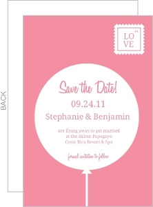 Pink and White Contemporary Save the Date Announcement