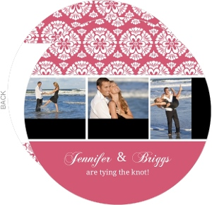Papaya and White Floral Pattern Save The Date