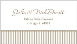 Brown and White Antique Address Label