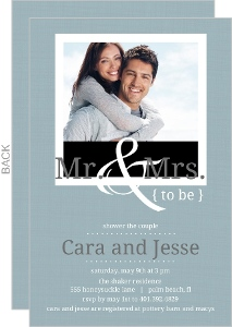 Simple To Be Blue Couples Shower Invitation