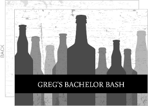Transparent Bottles Bachelor Party Invitation