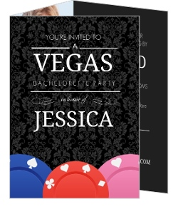 Poker Chips Vegas Bachelorette Party Invitation