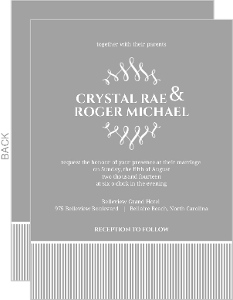 Gray and White Frame Wedding Invitation