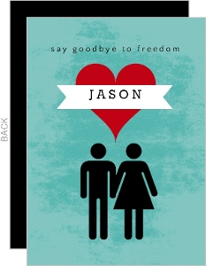 Say Goodbye to Freedom Bachelor Invitation
