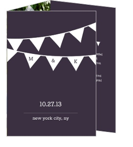 Modern Flags Wedding Invite