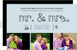 Modern Mr and Mrs Wedding Invite