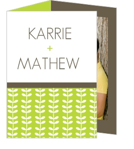 Green Spring Pattern Wedding Invite