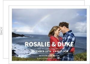 Modern Typography Photo Wedding Invite