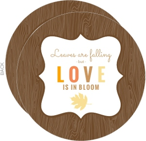 Brown Woodgrain Fall Couples Shower Invite