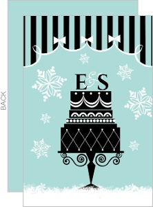 Holiday Cake Bridal Shower Invite