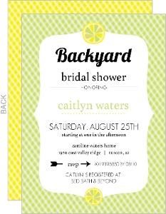 Yellow Citrus Fruit Bridal Shower Invite