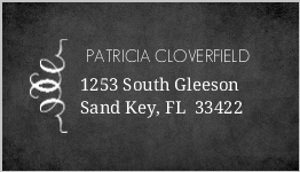 Vintage Chalkboard Photo Wedding Address Labels