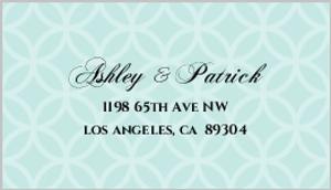 Turquoise Monogram Address Labels
