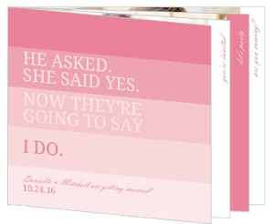 Pink Ombre Photo Booklet Wedding Invite