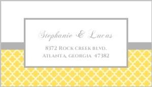 Yellow and Gray Pattern Address Label