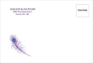 Elegant Peacock Wedding Address Envelope