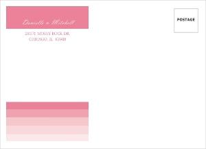 Pink Ombre Address Envelope