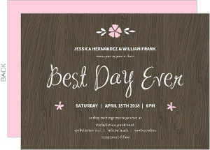 Best Day Ever Brown Wedding Invite