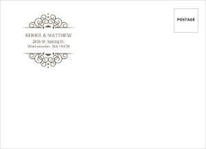 Olive Intricate Frame Address Envelope