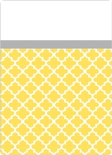 Yellow and Gray Pattern Wedding Invite