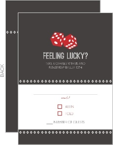 Lucky Love Red Dice Response Card