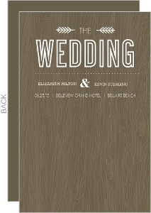 Wood Grain Rustic Wedding Program