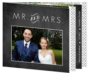 Vintage Chalkboard Photo Wedding Thank You