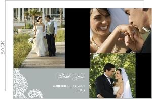 White Lace Wedding Wedding Thank You Card