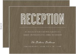 Wood Grain Rustic Reception Enclosure Card