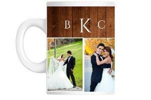 Wood Grain Keepsake Custom Mug