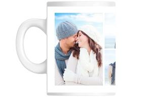 Soft Blue Photo Keepsake Custom Mug