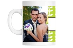 Green Spring Pattern Custom Mug