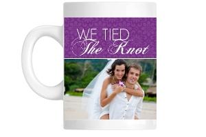 Purple Elegant Floral Pattern Custom Mug