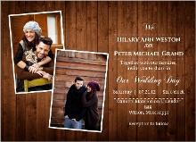 Wooden Picture Perfect Love Wedding Invitation
