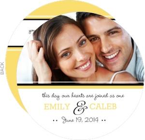Classic Pale Yellow Wedding Invitation Circle