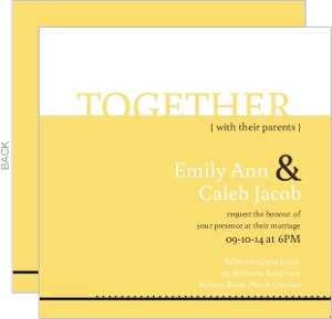 Classic Pale Yellow Wedding Invitation Card