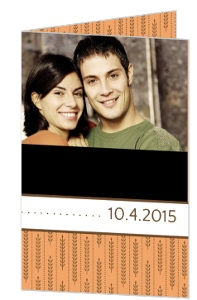 Fall Wheat Orange and Brown Photo Save the Date