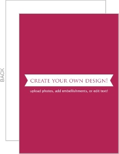 Create Your Own Card - Flat 3.5x5 Inches