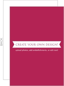 Create Your Own Card - Flat 4x6 Inches
