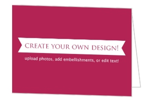 Create Your Own Card - Folded 5x3.5 Inches
