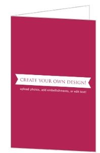 Create Your Own Card - Folded 4x6 Inches