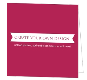 Create Your Own Card - Folded 5.25x5.25 Inches