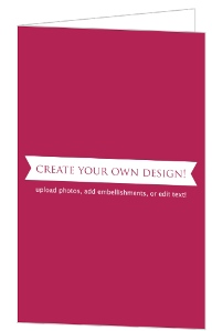 Create Your Own Card - Folded 5.5x8.5 Inches