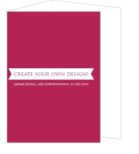 Create Your Own Card - Tri-fold 4x5.5 Inches