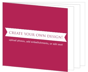 Create Your Own Card - Booklet 5x7 Inches