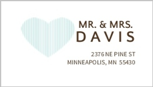 Two hearts whimsical address label 895 1 big