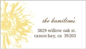 Simple sunflower brown yellow address label 916 1 big