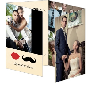 Vintage Mustache Wedding Thank You Card