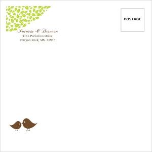 Brown Green Love Birds Custom Envelope