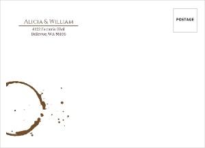 Brown Coffee Perfect Blend Custom Envelope